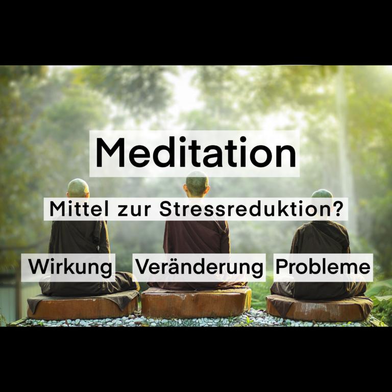 Meditation und Stress